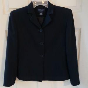 Fully lined black Ann Talor Jacket.